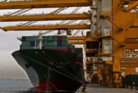 New export orders rose for the first time in three months.